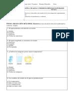 evaluación el agua ciencias 2°