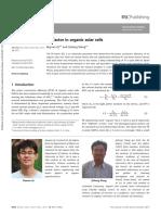 Fill Factor In Organic Solar Cells