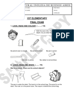 sample paper 1st elementary