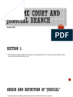 Supreme Court and Judicial Branch