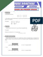 Inecuaciones de Primer Grado Para Tercero de Secundaria (1)