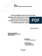 Estudio Epidemiológico de Las Fracturas Mandibulares Operadas en El Servicio de Cirugía