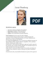 Biografia Greta Thunberg