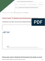 Como Crear Tu Sistema de Facturacion en Excel Pao a Paso