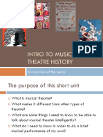 Musical Theatre Finals Lecture