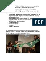Desafíos en Las Políticas Sociales en Chile