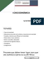 Clase VI. Toxicodinámica
