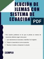 Resolución de Problemas Con Sistema de Ecuaciones