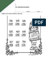 Tets de Matemática adiciones con reserva
