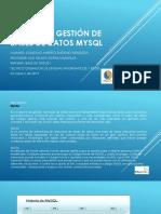 Sistema de Gestión de Bases de Datos Mysql