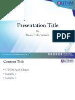 Slide Template UTHM 2 2019 4x3