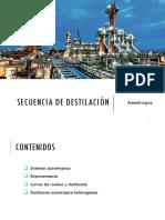 Secuencia de destilación
