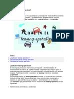 Texto Leasing Operativo