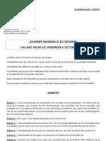 L'arrêté municipal du maire d'Avesnes-les-Aubert