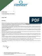 Tata comapany offer letter