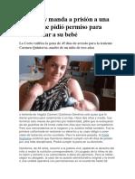 Paraguay Manda a Prisión a Una Militar Que Pidió Permiso Para Amamantar a Su Bebé