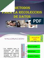 (4)METODOS RECOLECCION