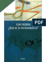 Jean-Grondin Qué es la Hermeneutica