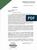 Oficio de María Elena Foronda a la Fiscal de la Nación