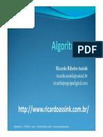 Algoritmosii Unidade1 Parte1 2013 2
