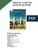 1001 SERIES DE TV QUE HAY QUE VER ANTES DE MORIR