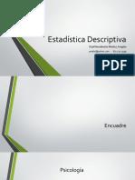 Curso de Estadística Descriptiva - Clase 01