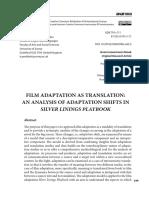 Film Adaptation as Translation_ an Analysis of Adptation Shifts