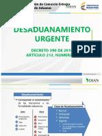Compdesaduanamiento Urgente Decreto390