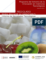 Uso de Pet Reciclado Para Envase Alimentario