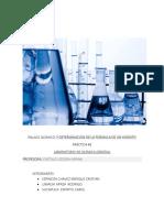 Enlace Químico y Determinacion de La Formula de Un Hidrato