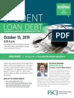 Navigating Student Loan Debt - Event Flier
