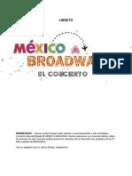 Libreto Mexico a Broadway