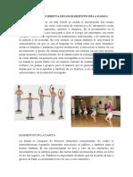 Aplicación Correcta de Los Elementos de La Danza