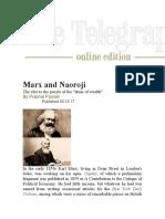 The Telegraph Englis Marx and Naoroji