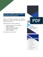 Informe del Sistema Financiero de República Dominicana al mes de julio 2019