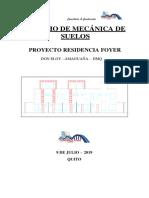 Informe de Mecanica de Suelos Residencia Foyer