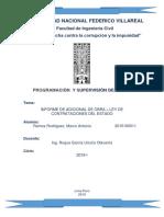 Informe de Programacion y Supervision de Obras