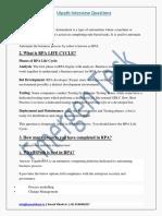 UiPath Q&A PDF