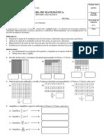 Prueba de Matemática (7mo Básica - Multiplicación de Fracciones)