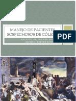 MANEJO DE PACIENTES SOSPECHOSOS DE CÓLERA