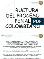 Estructura Del Proceso Penal Colombiano en Diapositivas Unisimon