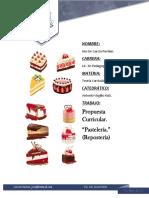 Propuesta Curricular. Pasteleria (Resposteria)
