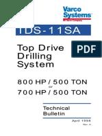 Tds-11sa - Top Drive
