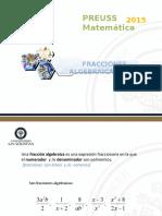 Clase 8 (Fracciones Algebraicas)