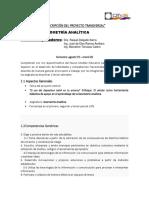 Formato Proyecto Transversal -Geometria Analitica-2019