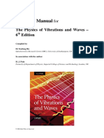 Solutions manual physics of vibrations and waves