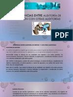 Diferencias Entre Auditoría de Gestión Con Otras Auditorías