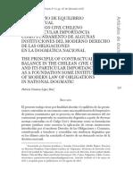 El principio de equilibrio contractual en el Código Civil chileno - Patricia López Díaz.