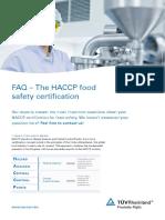 Tuv Rheinland Faq Haccp Certification En