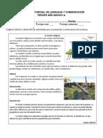 EVALUACIÓN PARCIAL DE LENGUAJE Y COMUNICACIÓn 3° basico